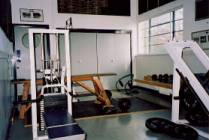 The weights room